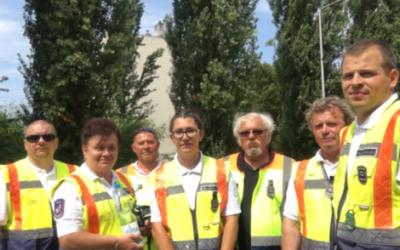 Rendőrséggel közös szolgálat a XXXVI. Tatai Minimaraton és Félmaratonon