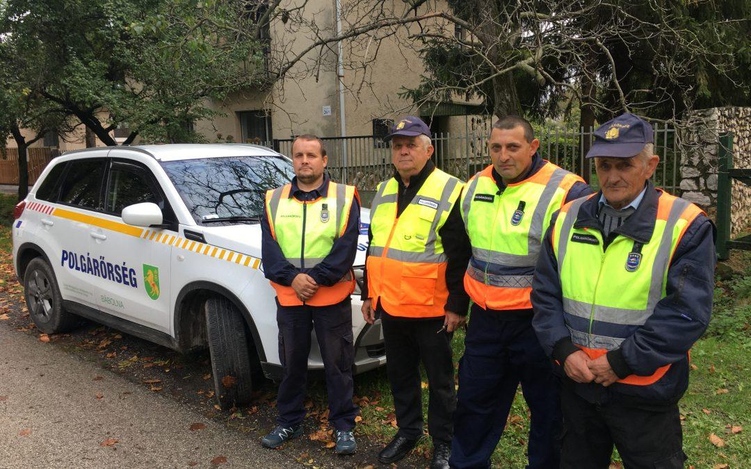 Bábolnai- és a Tárkányi Polgárőr Egyesület közös szolgálat teljesítése Kisbéren