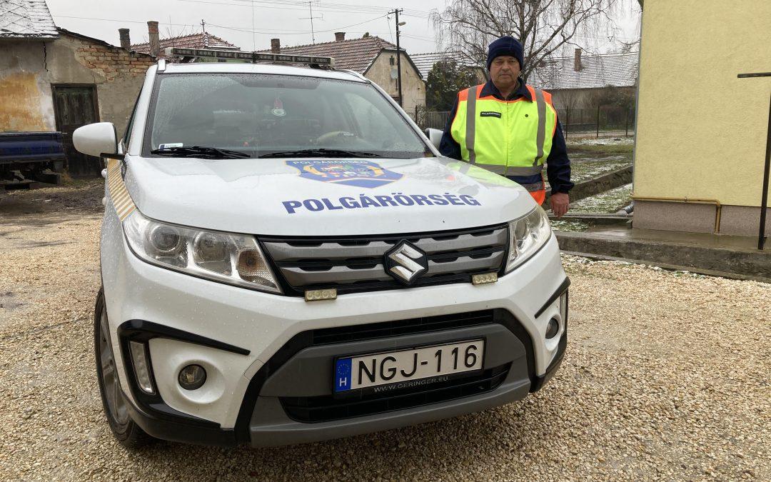 A téli időszakban kiemelt fontosságú a polgárőrség által végzett járőrszolgálat