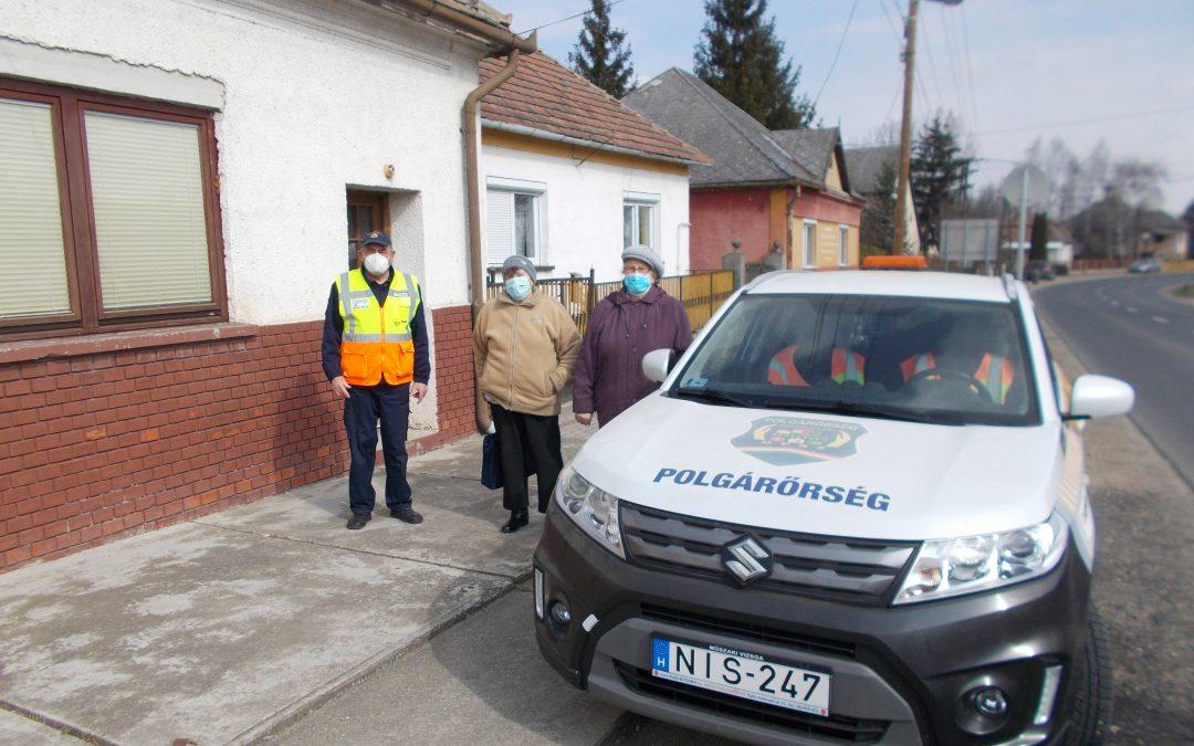 Bakonyszombathelyi Polgárőr Egyesület önzetlen segítsége a koronavírus elleni védőoltás hatékony lebonyolítása érdekében.